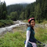 Mountain bike trail through the Alps, Austria, 2009