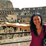 Getting my gladiator on at the colosseum in Rome, Italy
