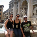 Trevi Fountain with Sis & Craig, Rome, Italy 2009