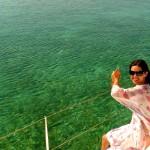Catamaran cruise to Ile De Cerf, Mauritius 2008
