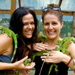 Iguana Sanctuary with roomie Dani, San Ignacio, Belize 2013