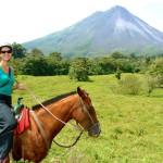 Horse riding through a jungle to see a volcano, La Fortuna, Costa Rica 2013