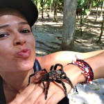 Facing my arachnophobia, Tical Ruins, Guatemala 2013