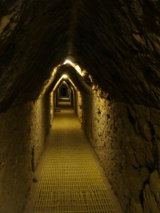 Tunnel through the Pyramid of Cholula that took 25 years to complete.