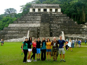The UNESCO World Heritage site: Palenque Mayan ruins.